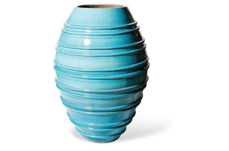Turquoise Helter Skelter Vase