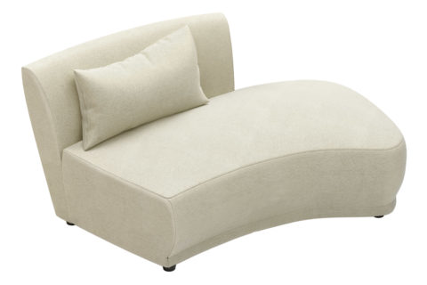 fizz grand royal armless loveseat w bumper 105FT001P2 RSB