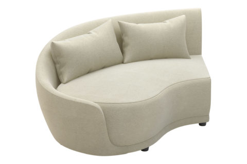 fizz grand royal one arm loveseat 105FT001P2 LAF
