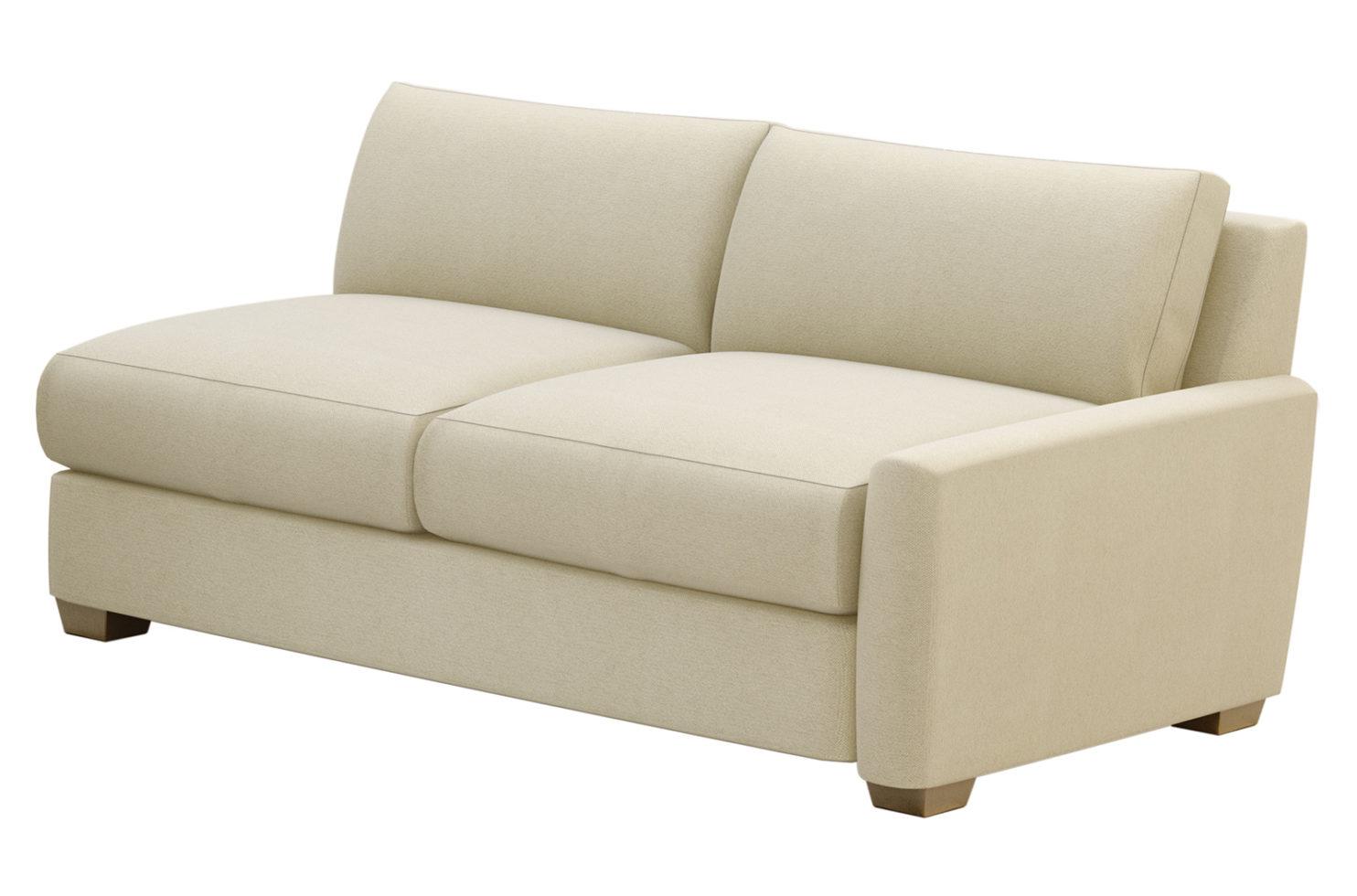 fizz imperial one arm apartment sofa 105FT004P2 SS RAF