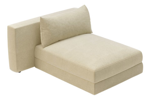 fizz julep armless chaise 105FT002P2 LSA